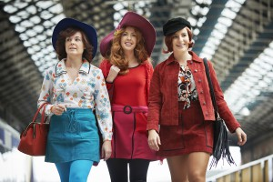 Actors Karen McCartney, Lisa Lambe and Sophie Jo Wasson in Connolly Station, Dublin. Photo: Ros Kavanagh